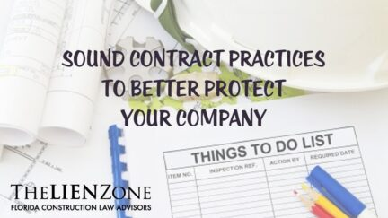 Sound Contract Practices to Better Protect Your Company