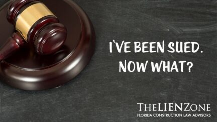 I've been sued. Now what?