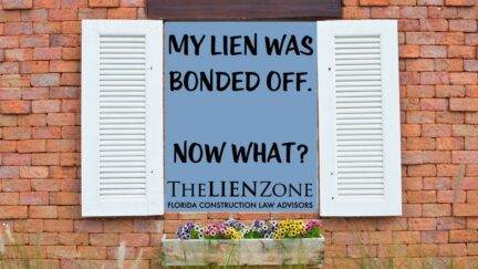 My Lien Was Bonded Off. Now What?